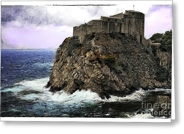 Tourist Site Greeting Cards - Lovrijenac tower in Dubrovnik Greeting Card by Madeline Ellis