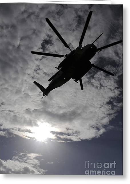 Rotorcraft Greeting Cards - Low Angle View Of A Ch-53e Super Greeting Card by Stocktrek Images