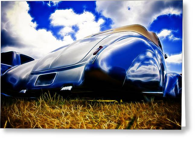 Aotearoa Greeting Cards - Low Ford Roadster Greeting Card by Phil