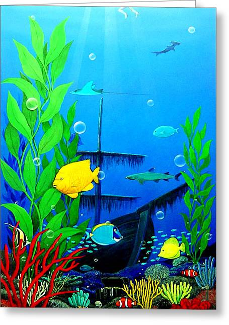 3 Fish Greeting Cards - Low Maintenance Aquarium Greeting Card by Snake Jagger
