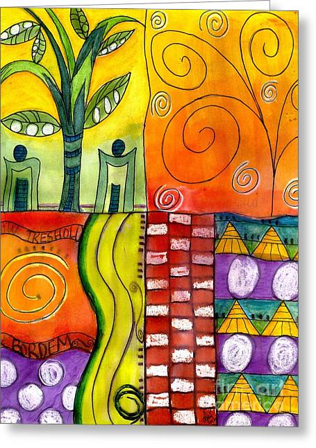 Survivor Art Greeting Cards - Low Threshold for Boredom Greeting Card by Angela L Walker