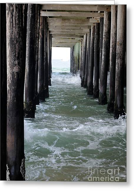 Seaside Heights Photographs Greeting Cards - Low Tide Greeting Card by Cindy Roesinger