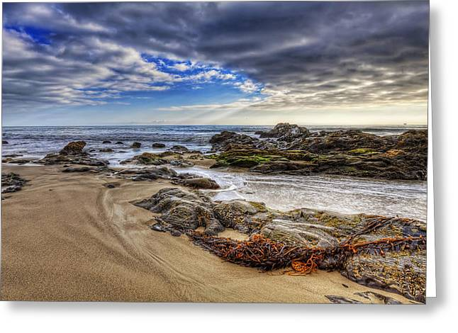Hdr Landscape Greeting Cards - Low Tide Greeting Card by Lachlan Kay