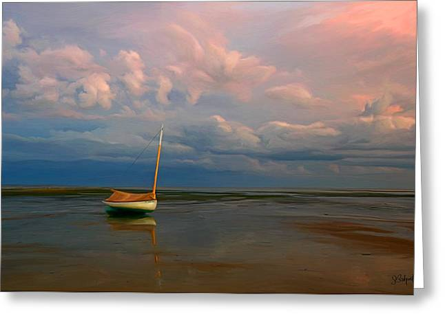 Sue Brehant Greeting Cards - Low Tide Greeting Card by Sue  Brehant