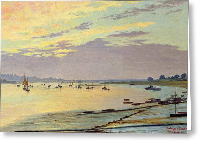 Masts Greeting Cards - Low Tide Greeting Card by W Savage Cooper