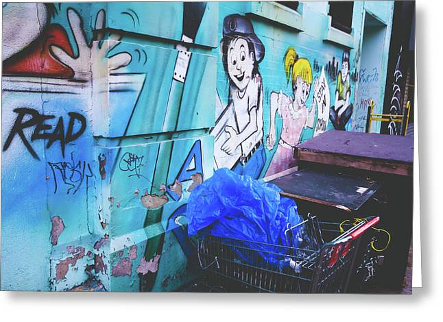 Lower East Side Greeting Cards - Lower East Side Street Art Greeting Card by Ariane Moshayedi