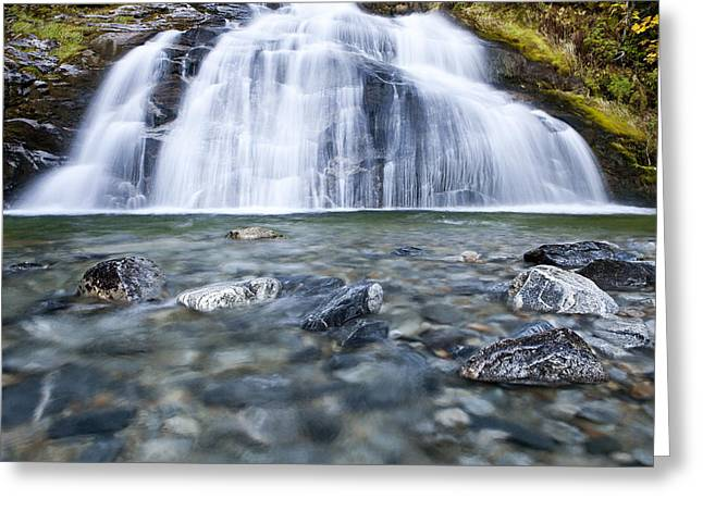 Moss Green Greeting Cards - Lower Exstew Falls Greeting Card by Brandon Broderick