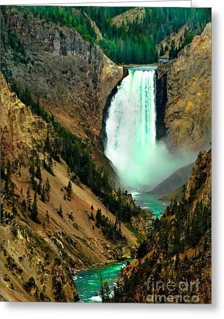 Lower Falls Greeting Card by Robert Bales