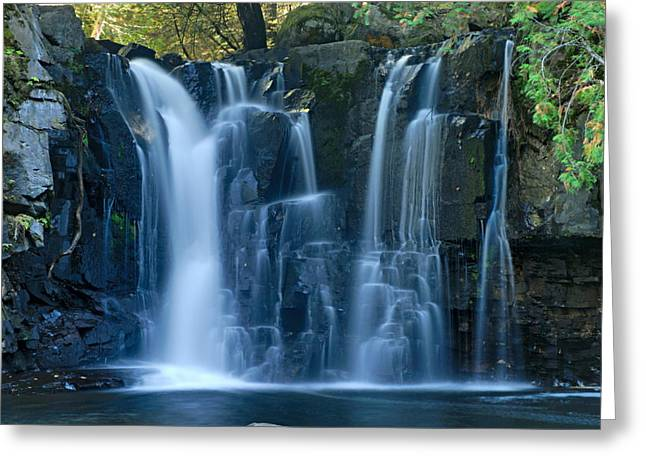 Canoe Waterfall Greeting Cards - Lower Johnson Falls 2 Greeting Card by Larry Ricker