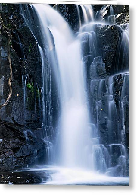 Canoe Waterfall Greeting Cards - Lower Johnson Falls 3 Greeting Card by Larry Ricker