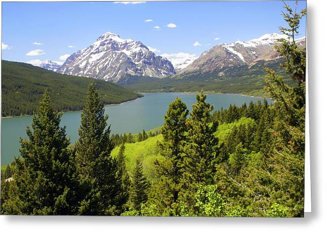 Marty Koch Greeting Cards - Lower Two Medicine Lake Greeting Card by Marty Koch