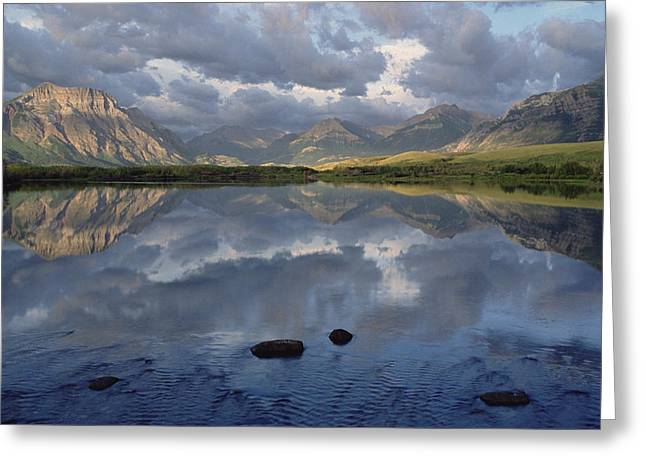 Boundary Waters Greeting Cards - Lower Waterton Lake, Boundary Mountain Greeting Card by Gerry Ellis