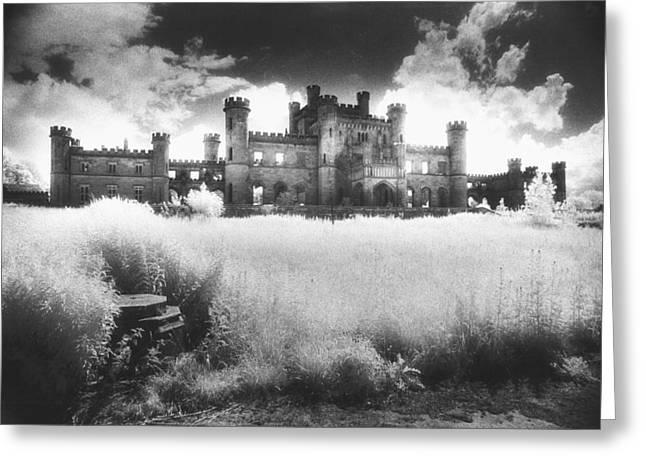 Ghostly Greeting Cards - Lowther Castle Greeting Card by Simon Marsden