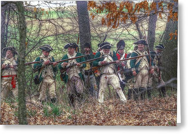 Loyalist Greeting Cards - Loyalist Skirmishers Revolutionary War   Greeting Card by Randy Steele
