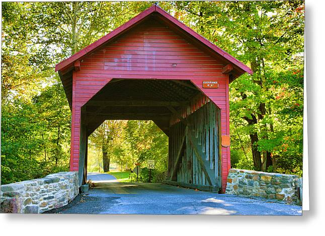 Seasonal Prints Rural Prints Greeting Cards - Loys Station Bridge I Greeting Card by Steven Ainsworth