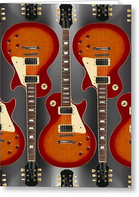 Guitar Body Greeting Cards - Lp - 2 Greeting Card by Mike McGlothlen