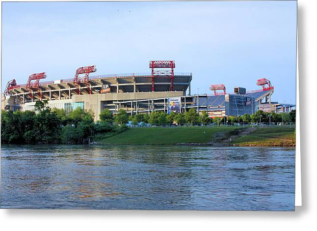 Nashville Tennessee Greeting Cards - LP Field Nashville Tennessee Greeting Card by Kristin Elmquist