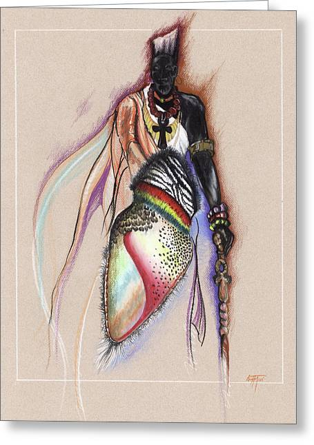 African-american Artist Drawings Greeting Cards - LRP the Black Man Greeting Card by Anthony Burks Sr
