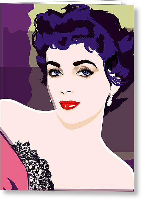 Liz Taylor Greeting Cards - Lt Greeting Card by Janine Hoffman