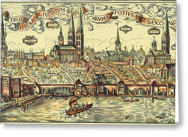 Engraving Greeting Cards - Lubeck, Germany Greeting Card by Granger