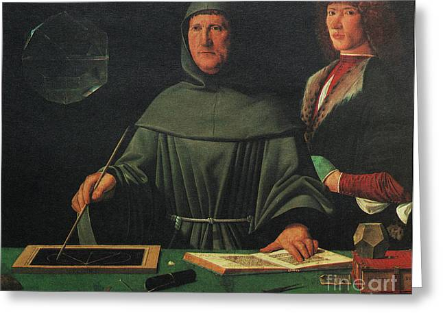 Famous Person Portrait Greeting Cards - Luca Pacioli, Franciscan Friar Greeting Card by Science Source