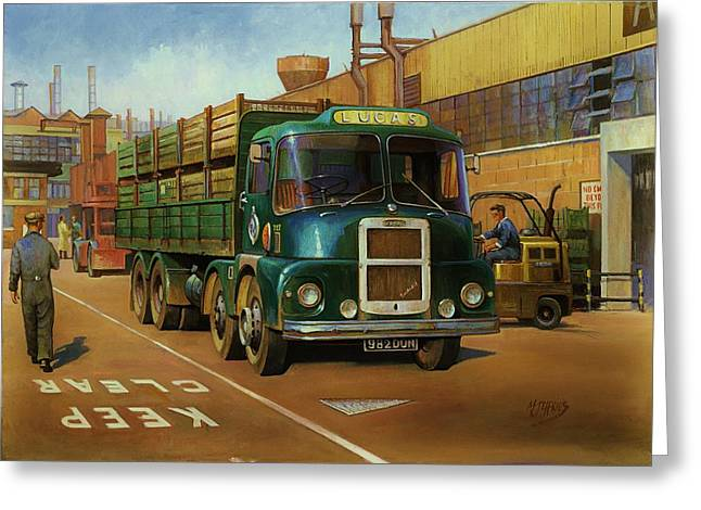 Original For Sale Greeting Cards - Lucas Scammell Routeman I Greeting Card by Mike  Jeffries