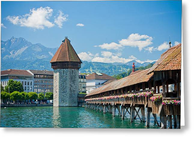 Luzern Greeting Cards - Lucerne in Spring Greeting Card by Anthony Doudt