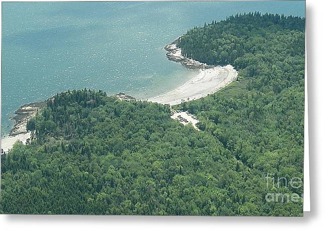 Lucia Beach From The Air Greeting Card by L Jaye  Bell