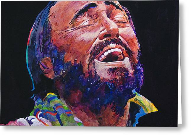 Luciano Pavrotti Greeting Card by David Lloyd Glover
