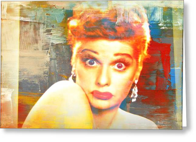 I Love Lucy Greeting Cards - Lucille Ball Greeting Card by Kevin Moore