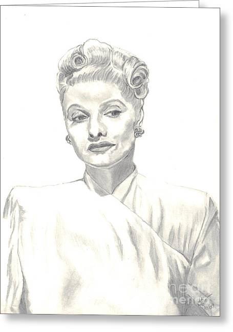 Lucille Greeting Cards - Lucille Greeting Card by Carol Wisniewski