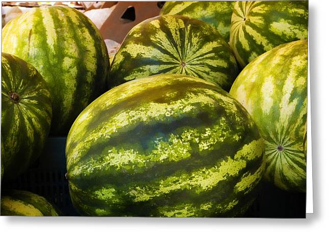 Melon Greeting Cards - Lucious Watermelon Greeting Card by Marilyn Hunt