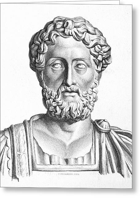 Statue Portrait Photographs Greeting Cards - Lucius Commodus (161-192 A.d.) Greeting Card by Granger