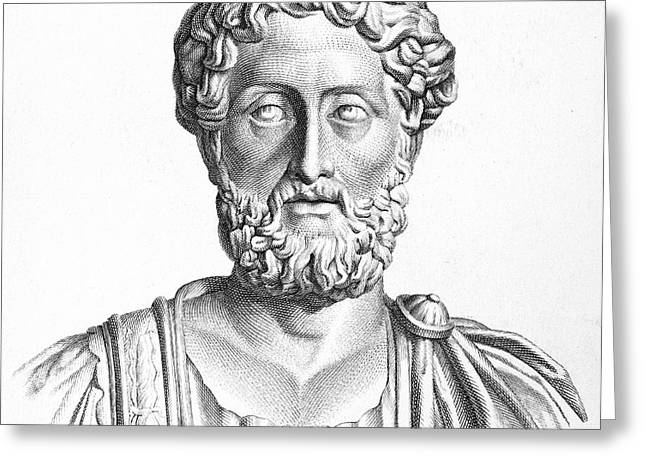 LUCIUS COMMODUS (161-192 A.D.) Greeting Card by Granger