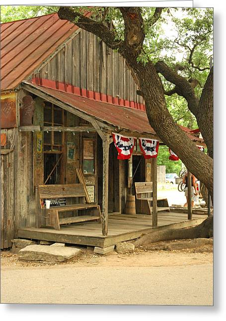 Country Dance Greeting Cards - Luckenbach Post Office Greeting Card by Robert Anschutz