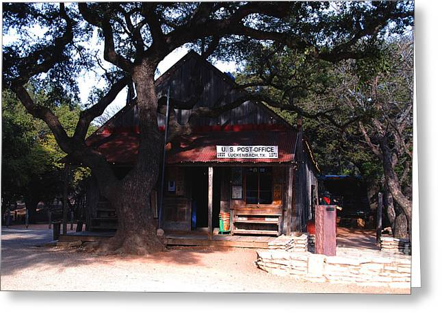 Historic Country Store Greeting Cards - Luckenbach Texas - II Greeting Card by Susanne Van Hulst