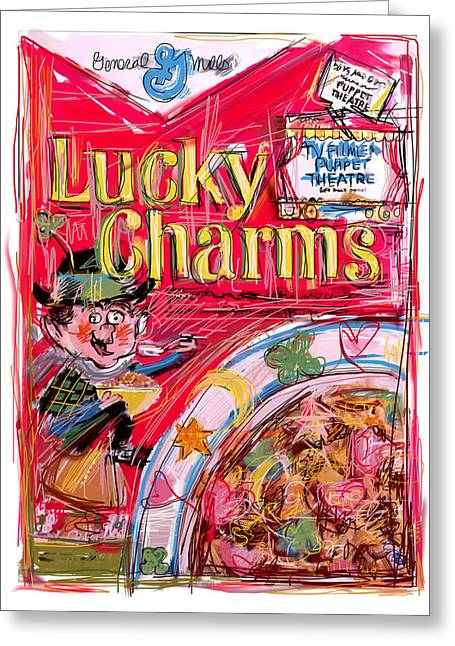 Toadstools Greeting Cards - Lucky Charms Greeting Card by Russell Pierce
