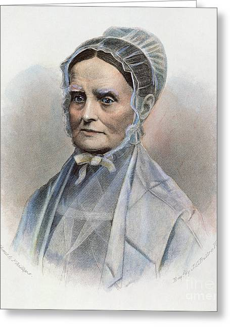 Reformer Greeting Cards - Lucretia Coffin Mott Greeting Card by Granger