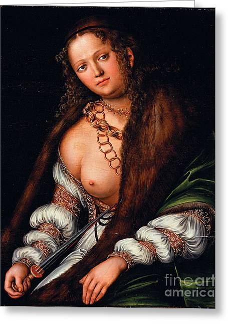 Lucretia Greeting Cards - Lucretia  Greeting Card by Pg Reproductions