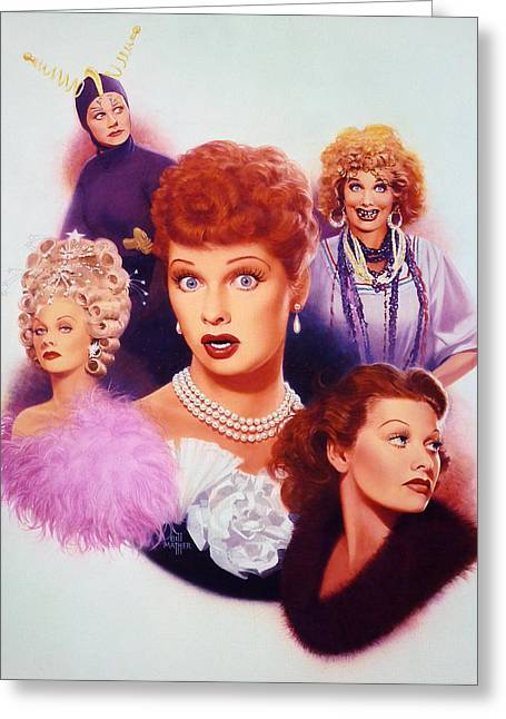 I Love Lucy Greeting Cards - Lucy A Tribute early career Greeting Card by Bill Mather