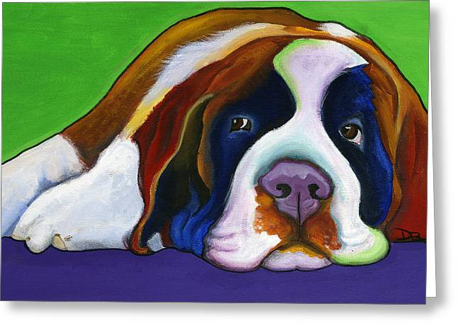 Lucy Greeting Card by Debbie Brown