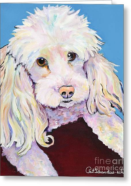 Dog Prints Greeting Cards - Lucy Greeting Card by Pat Saunders-White