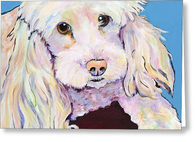 Lucy Greeting Card by Pat Saunders-White