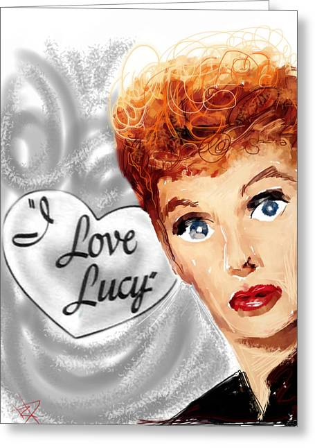I Love Lucy Greeting Cards - Lucy Greeting Card by Russell Pierce