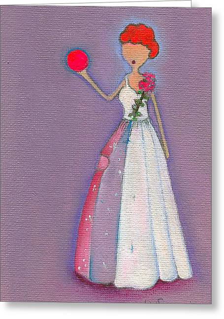 I Love Lucy Greeting Cards - Lucys Friendship Ball Greeting Card by Ricky Sencion