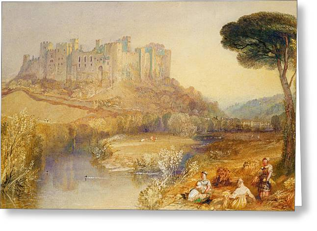 Lacy Greeting Cards - Ludlow Castle  Greeting Card by Joseph Mallord William Turner
