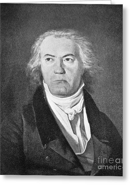 Completely Greeting Cards - Ludwig Van Beethoven. German Composer Greeting Card by Omikron