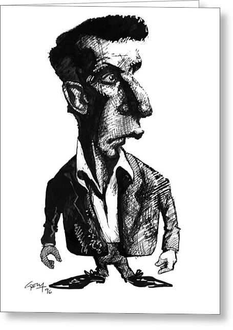 Most Photographs Greeting Cards - Ludwig Wittgenstein, Caricature Greeting Card by Gary Brown