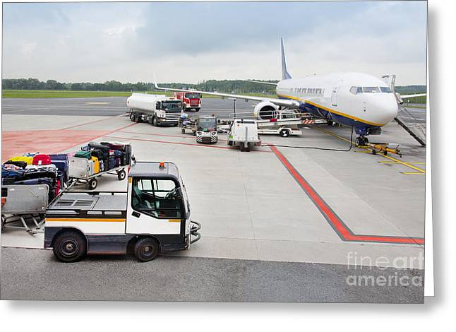 Tallinn Airport Greeting Cards - Luggage Transported to an Airprot Greeting Card by Jaak Nilson