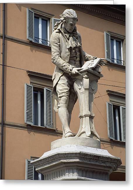 Statue Portrait Greeting Cards - Luigi Galvani, Italian Anatomist Greeting Card by Sheila Terry